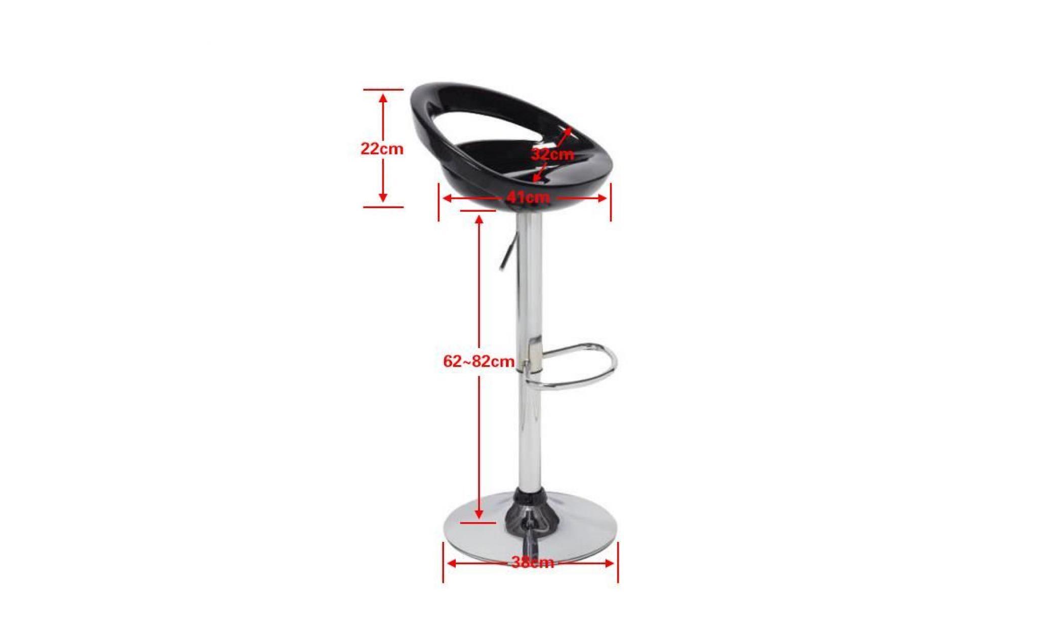 Tabouret De Barlot 6 Chaise Bar En Plastique Pivotante Ronde