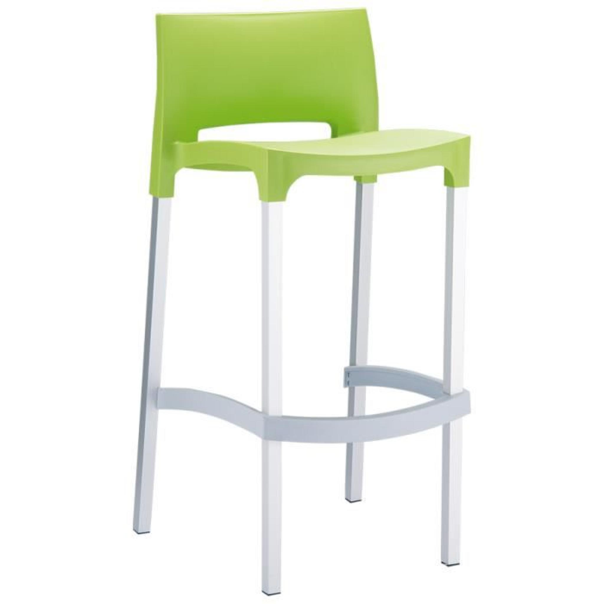 tabouret de bar 39 maty 39 vert avec dossier achat vente tabouret de bar pas cher couleur et. Black Bedroom Furniture Sets. Home Design Ideas