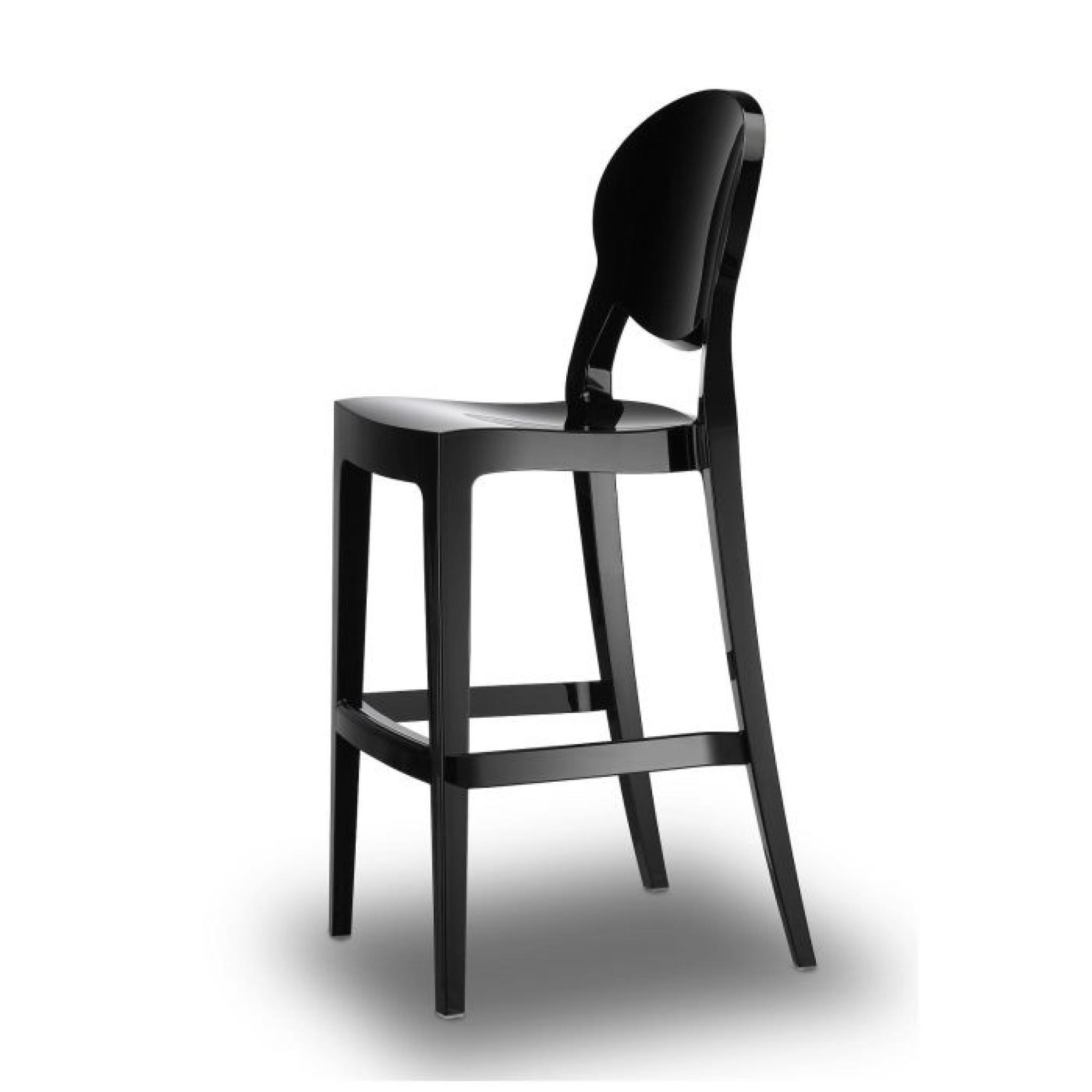 tabouret de bar noir design igloo barstool no achat vente tabouret de bar pas cher. Black Bedroom Furniture Sets. Home Design Ideas