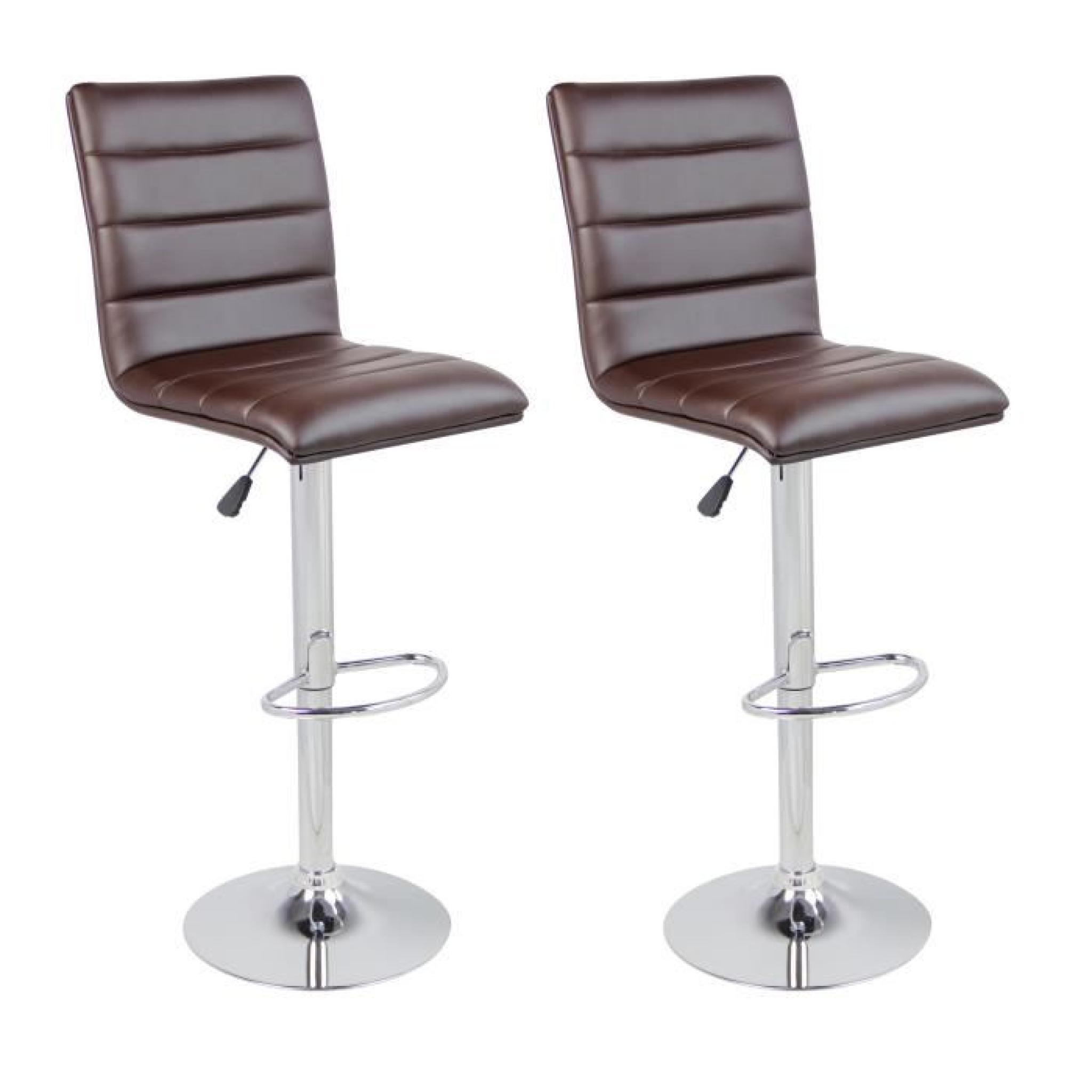 Tabouret de bar Swing chocolat (lot de 2)