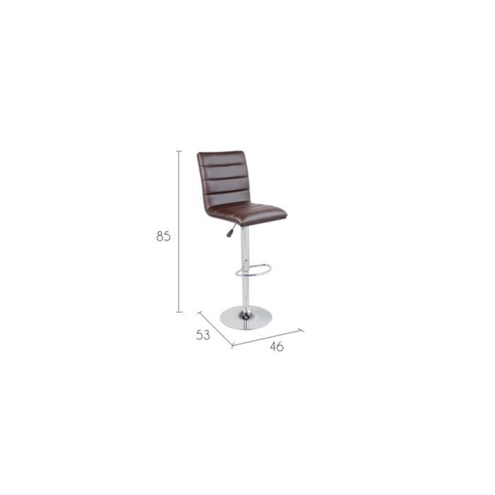 Tabouret de bar Swing chocolat (lot de 2) pas cher