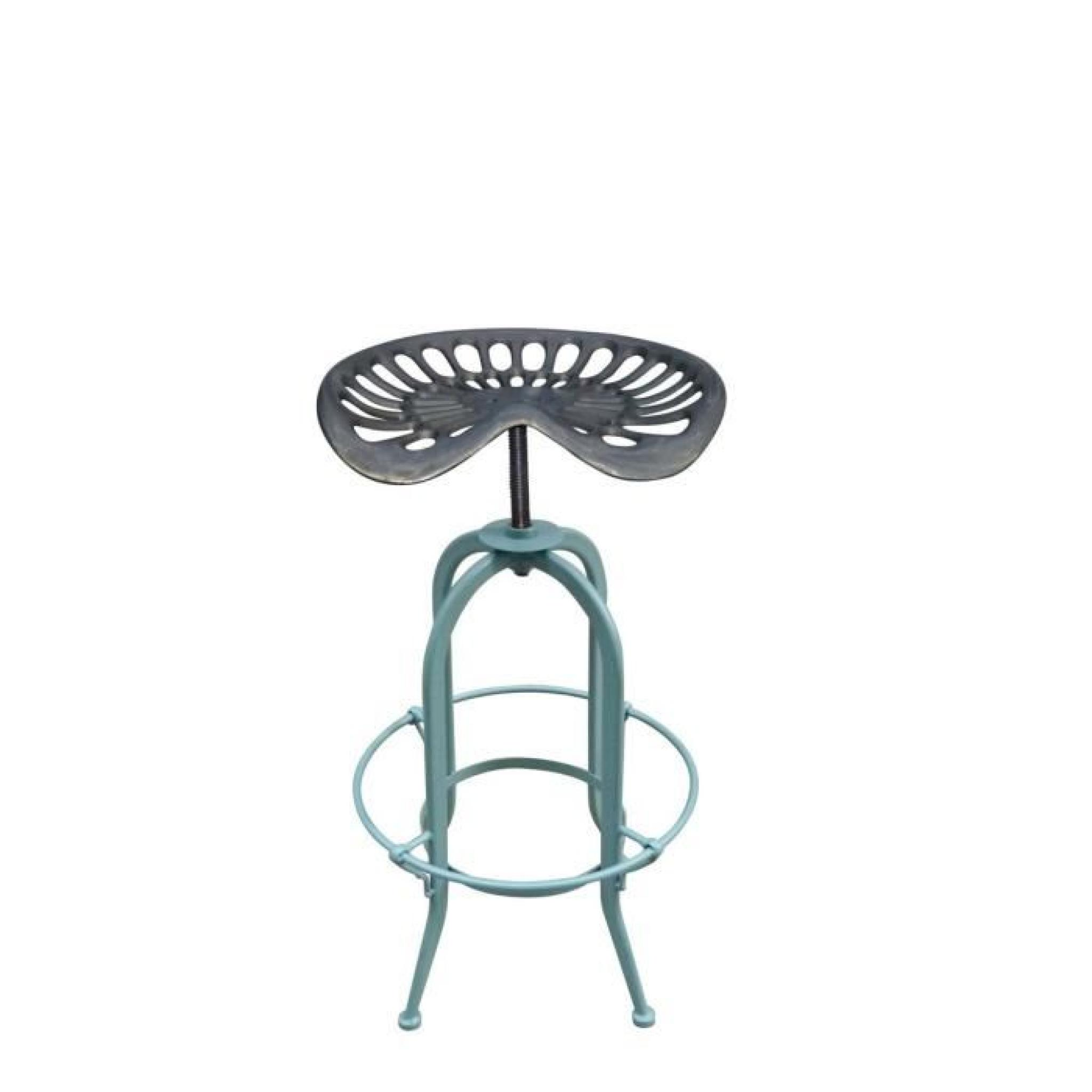 tabouret de bar vintage tracteur massey couleur bleu achat vente tabouret de bar pas cher. Black Bedroom Furniture Sets. Home Design Ideas