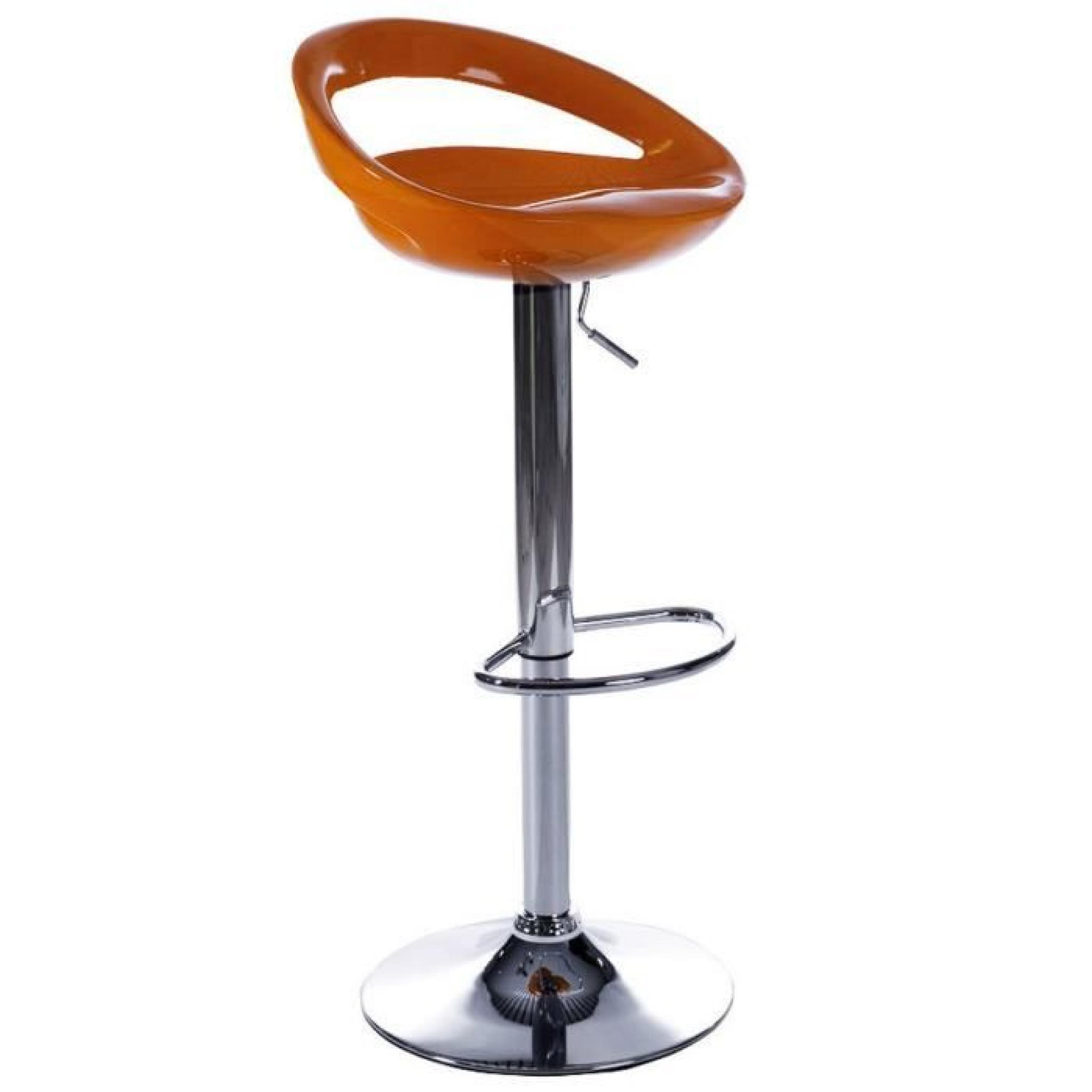 tabourets de bar moderne orange comet lot de 2 achat. Black Bedroom Furniture Sets. Home Design Ideas