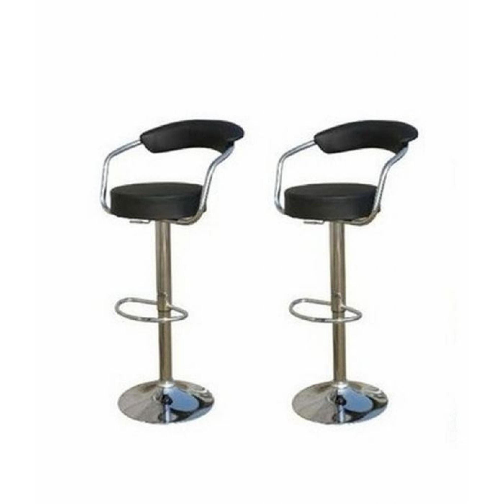 lot de 2 tabourets de bar sardaigne noir achat vente. Black Bedroom Furniture Sets. Home Design Ideas