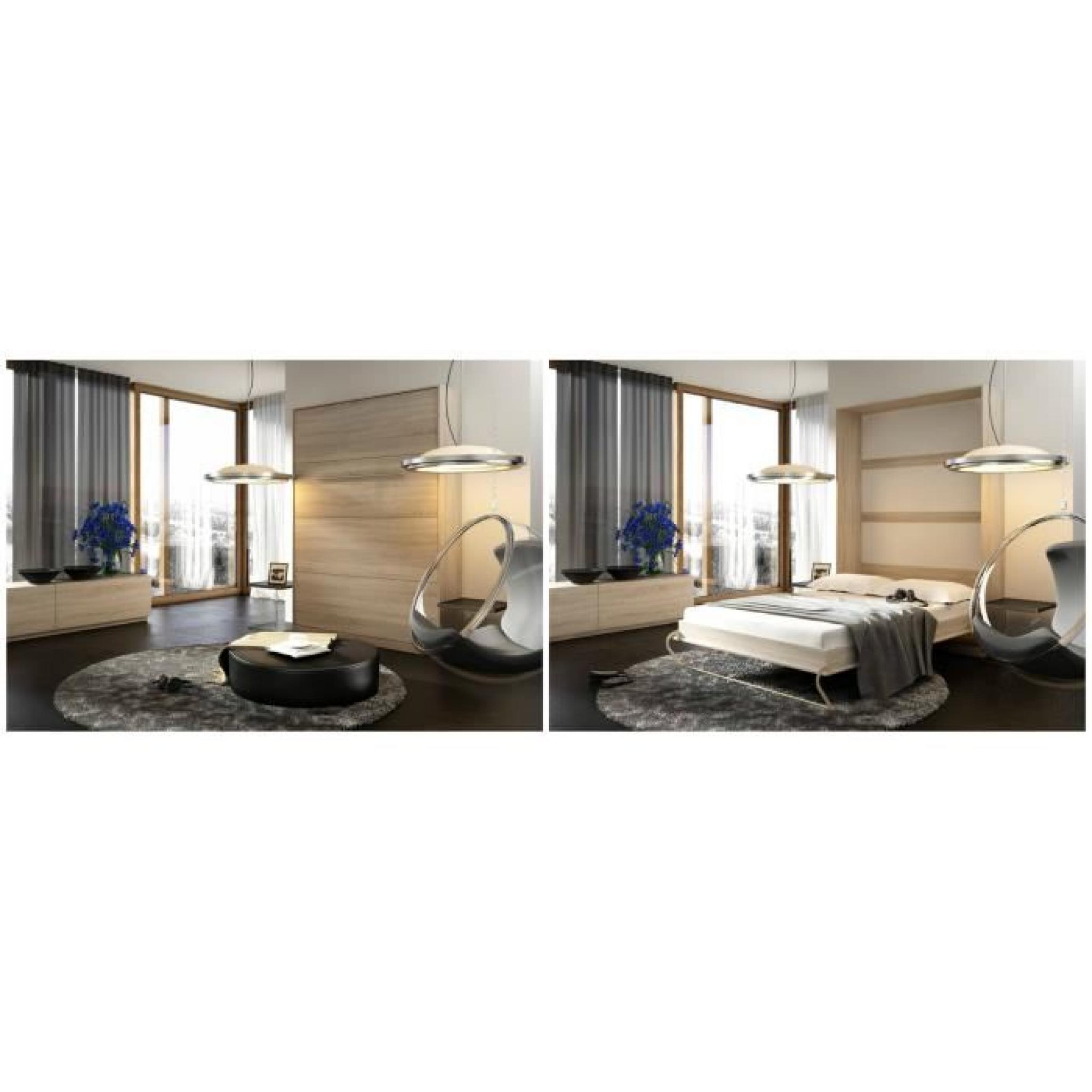 Tarif Exceptionnel Lit Escamotable Vertical 140 X 200 Sonoma