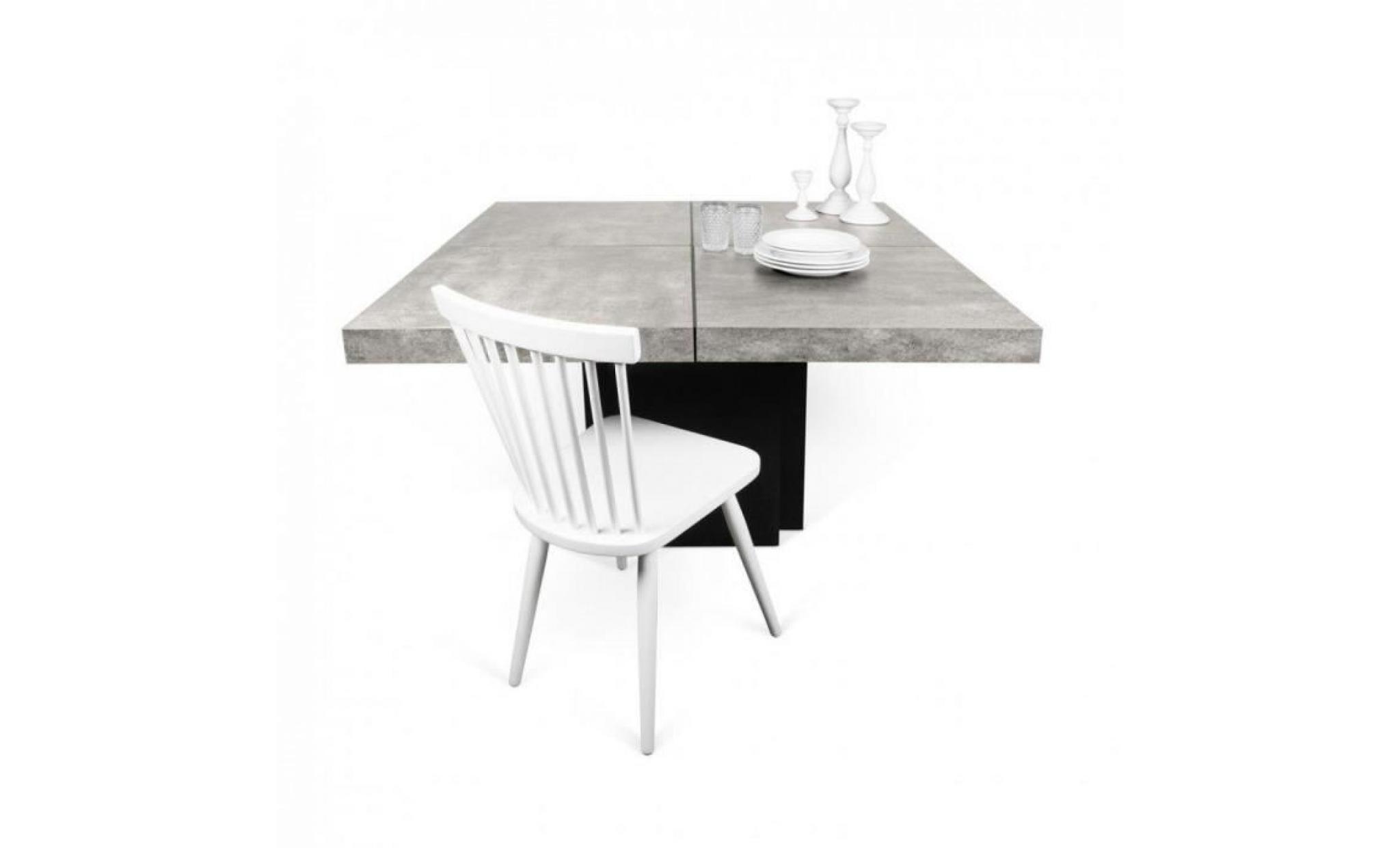 TemaHome Table Repas DUSK 130 X 130 Cm Effet Béton Pas Cher