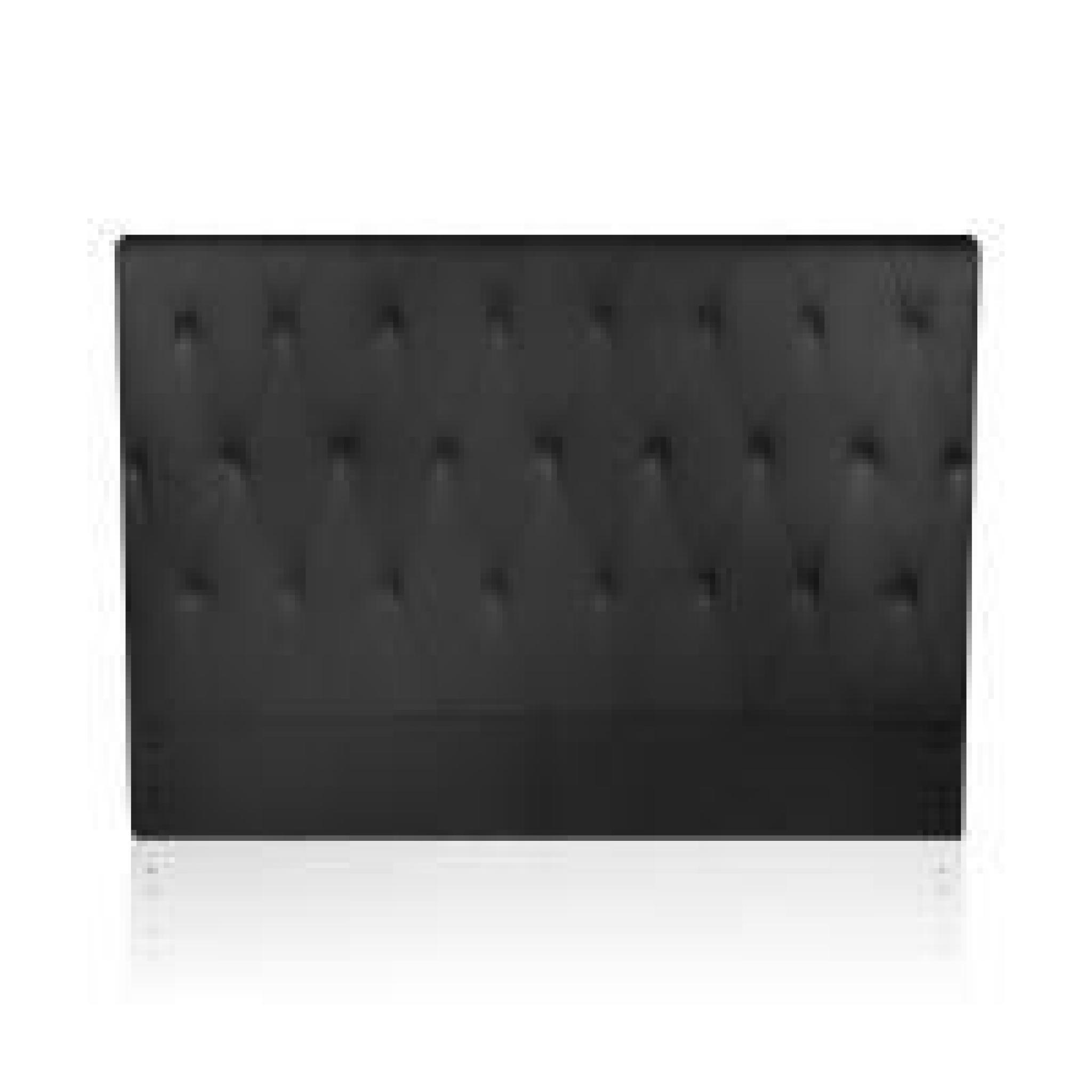 T te de lit capitonn e noir 160 cm magic achat vente tete de lit pas cher couleur et - Porte capitonnee prix ...