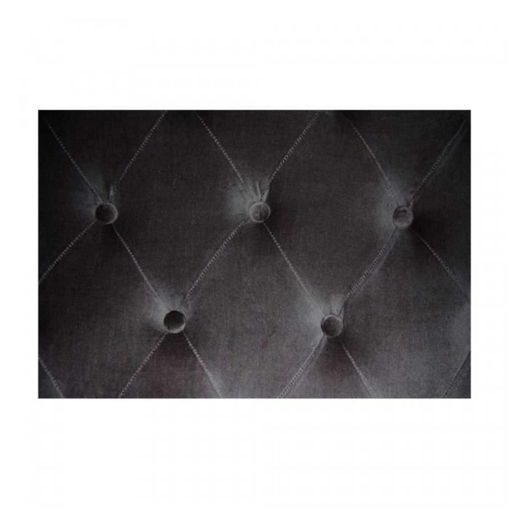 t te de lit capitonn e volupto velours anthracite. Black Bedroom Furniture Sets. Home Design Ideas