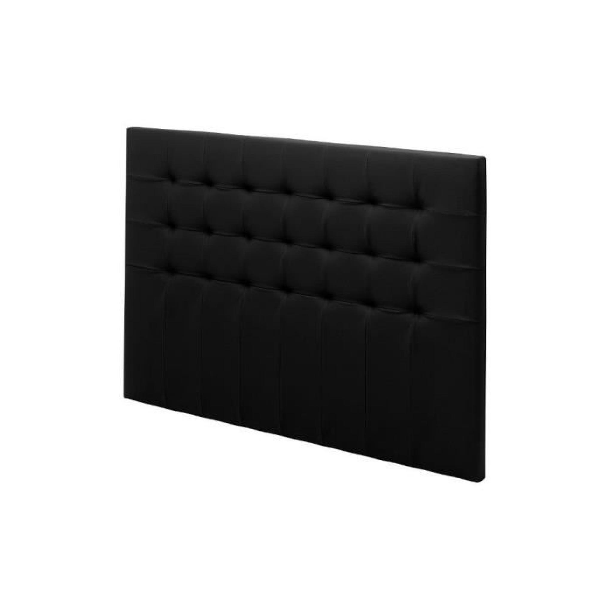 T te de lit cuir charme 150 noir achat vente tete de lit for Tete de lit bureau