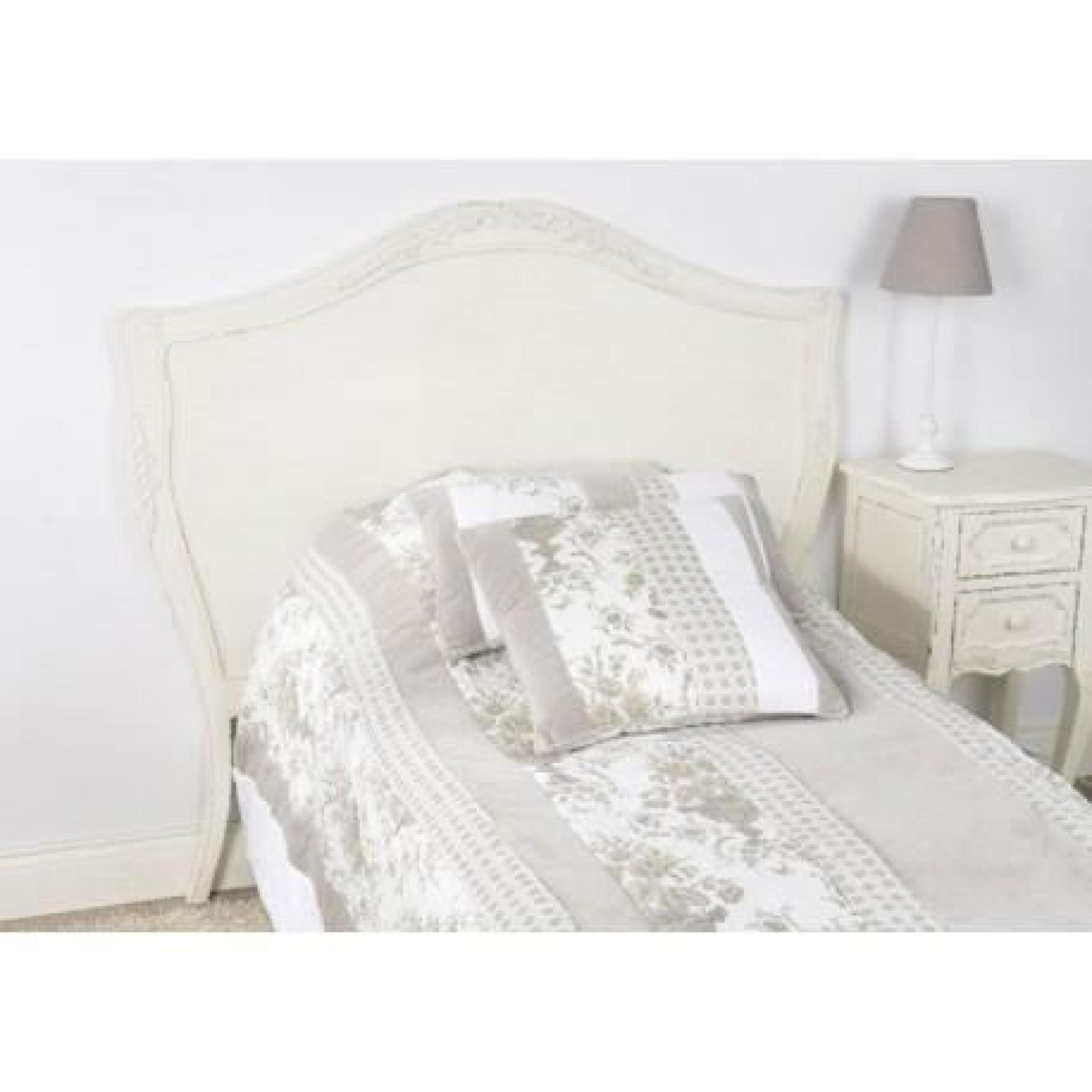 t te de lit en bois vieillie blanc antique 100 cm comtesse amadeus achat vente tete de lit pas. Black Bedroom Furniture Sets. Home Design Ideas