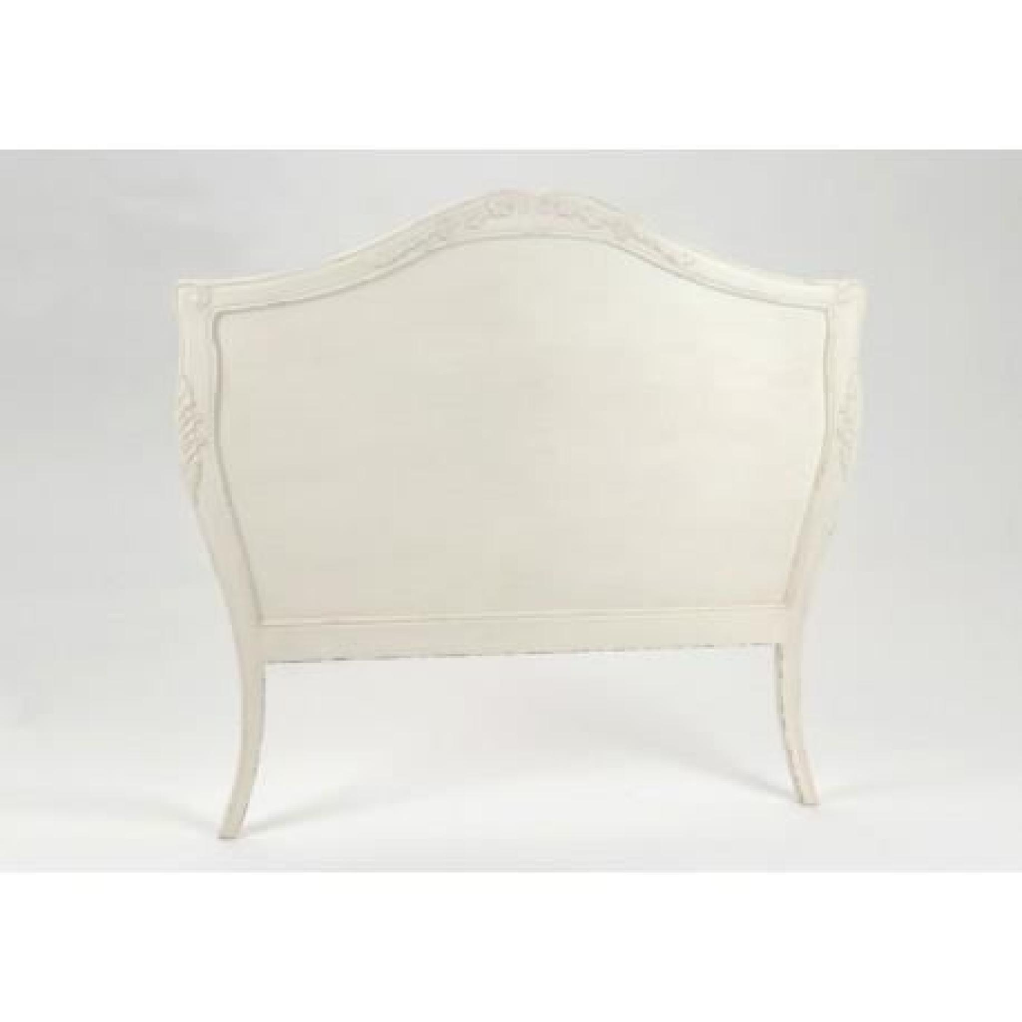 t te de lit en bois vieillie blanc antique 100 cm comtesse amadeus achat vente tete de lit pas. Black Bedroom Furniture Sets. Home Design Ideas