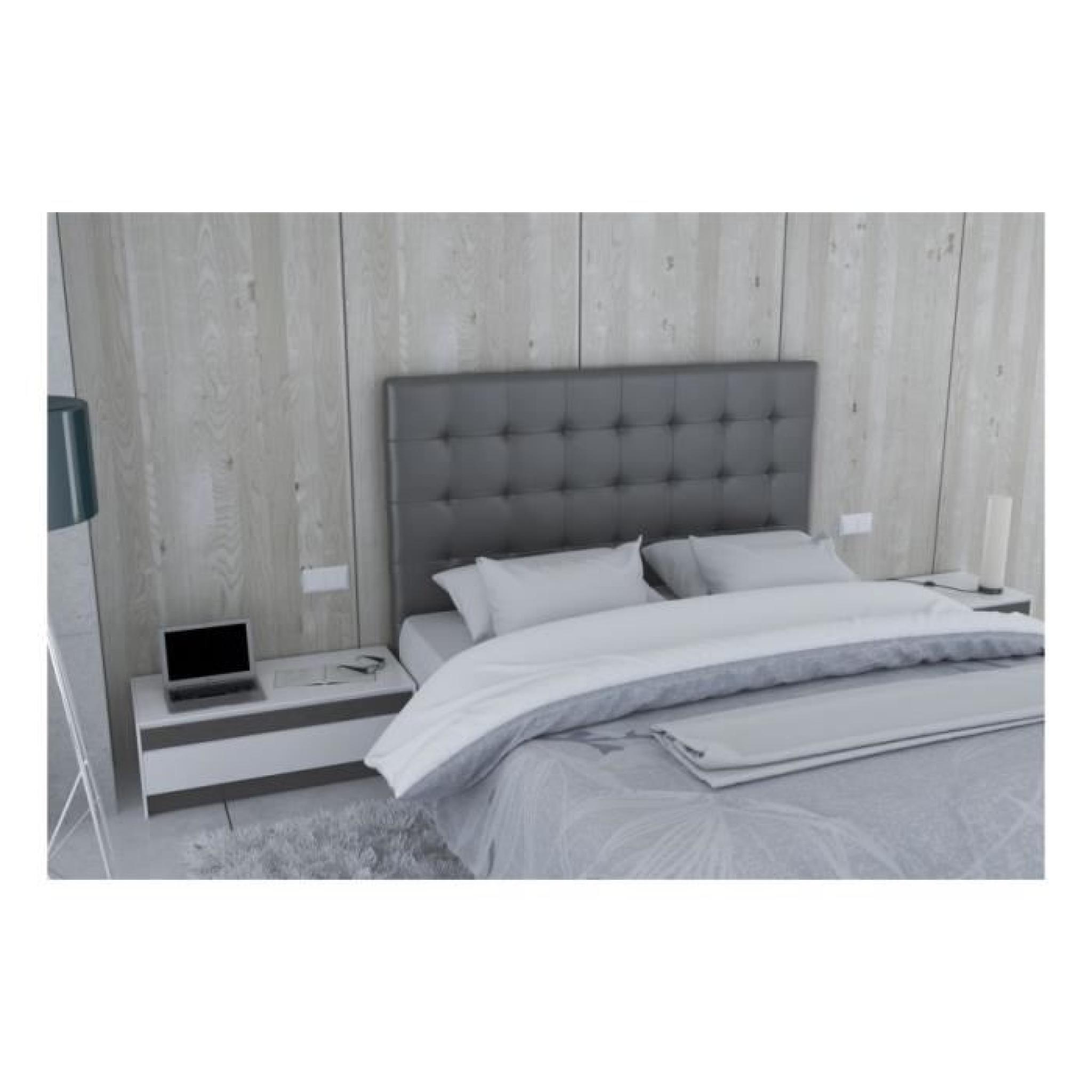 9e5e3a40332d85 Tête de lit en PU gris - Milan Taille - 180 cm - Achat Vente tete de ...