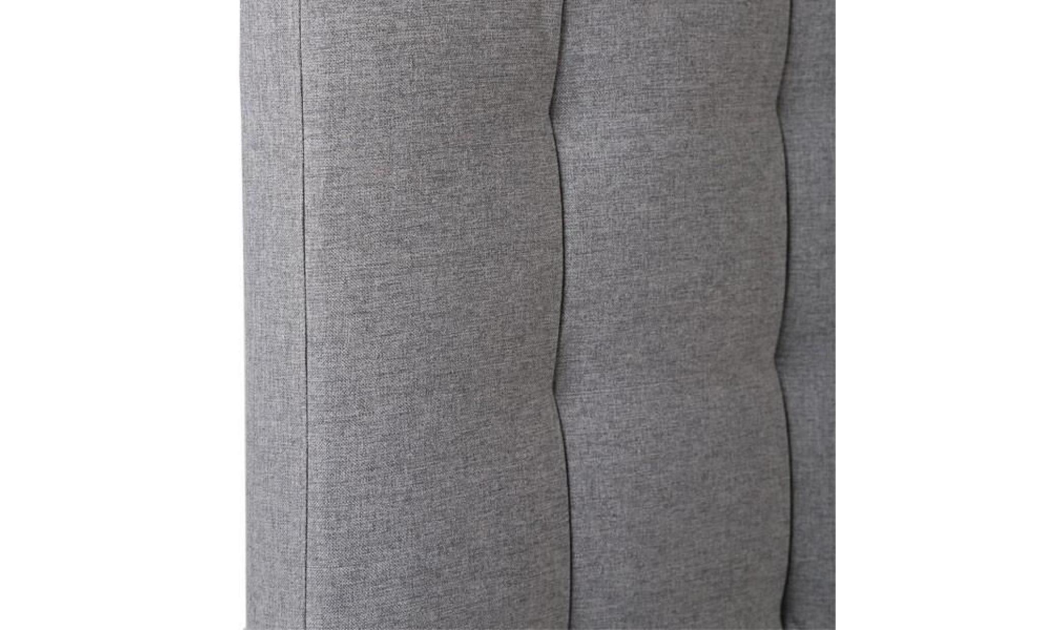 Tete De Lit Tissu Gris 160 Cm Marion Taille L 160 X L 10 X H