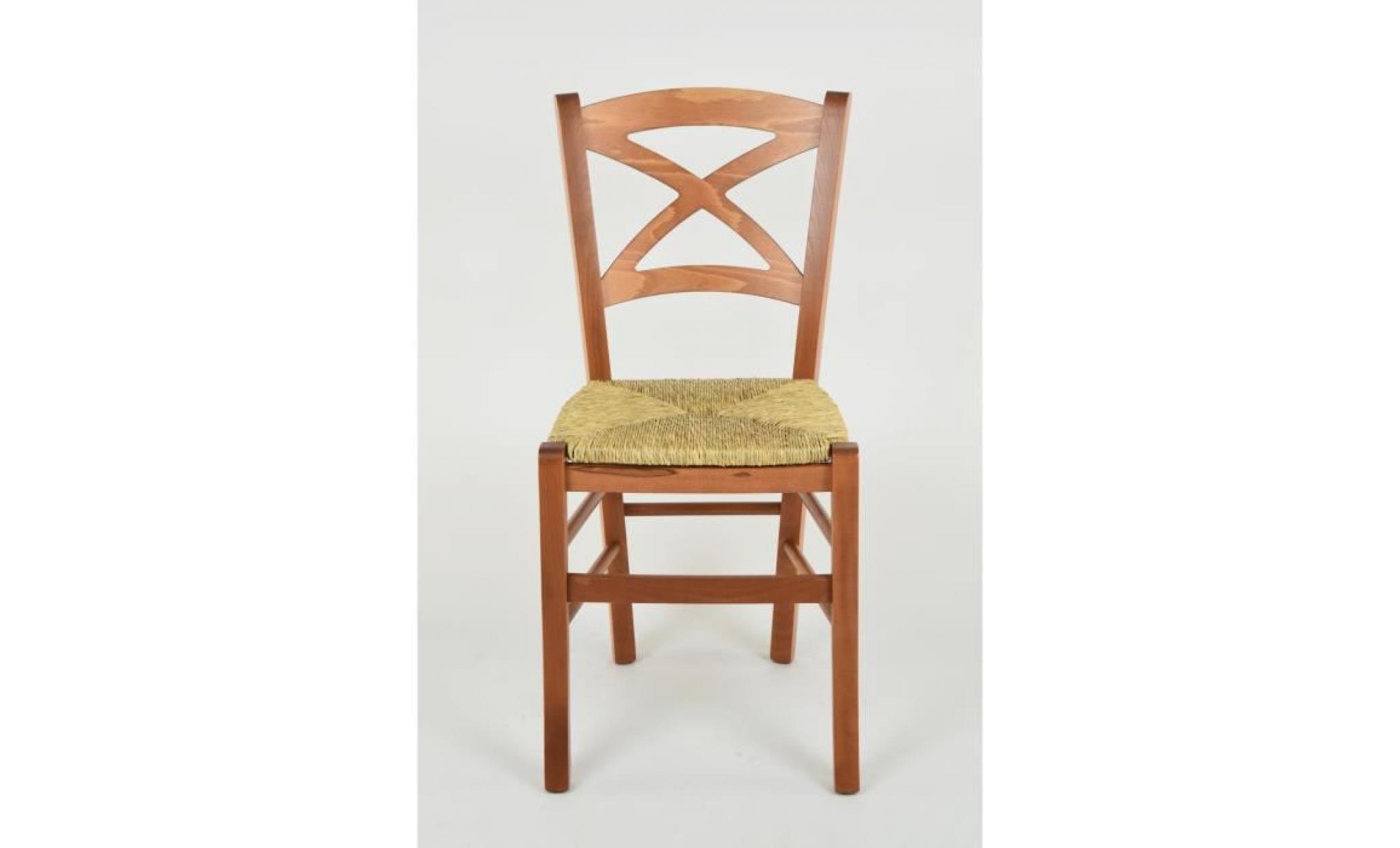 tommychairs set 6 chaises cross , structure en bois coleur ...