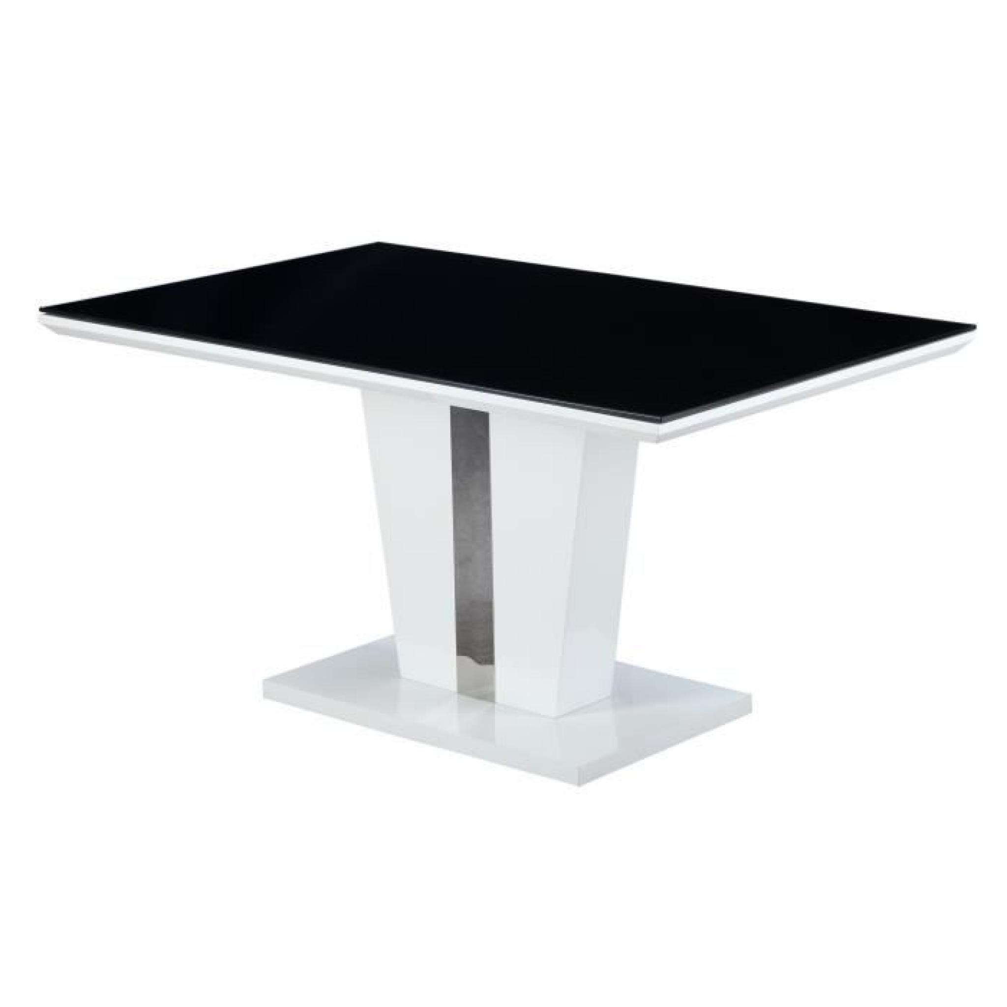 trevise table de s jour 150 cm blanche achat vente table. Black Bedroom Furniture Sets. Home Design Ideas