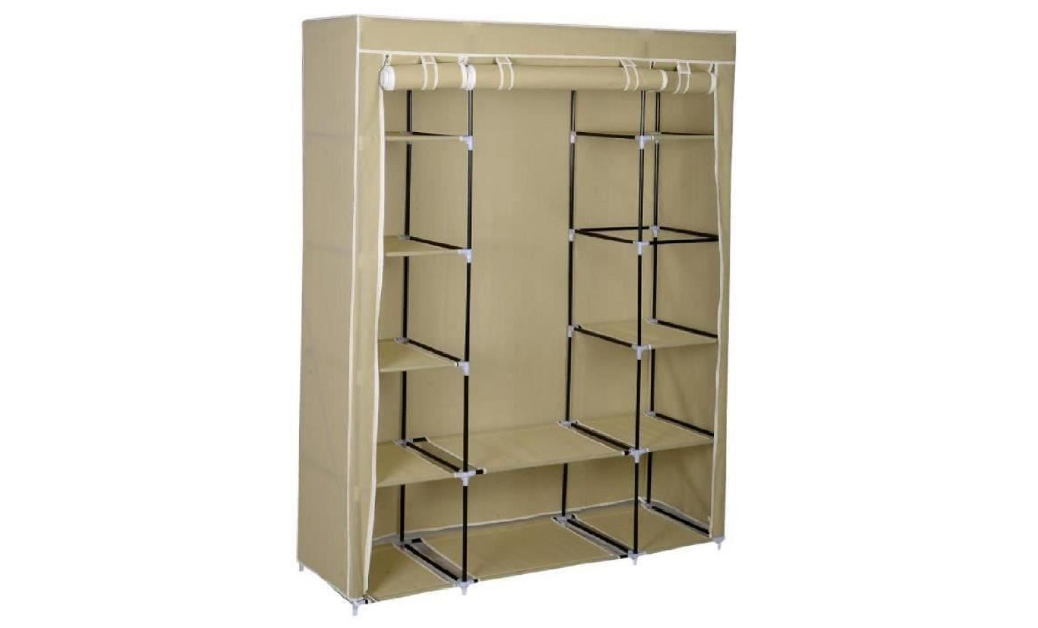 Triple toile armoire penderie étagères penderie avec rangement ...