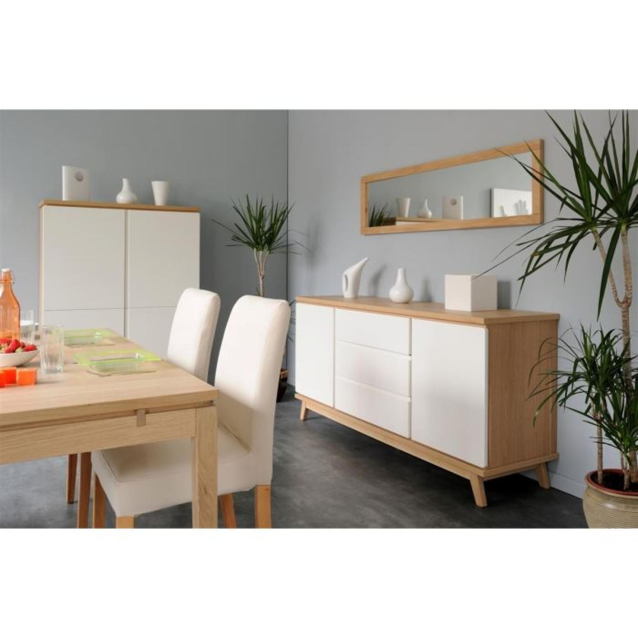 tweeny enfilade 180 cm ch ne et laqu blanc achat vente. Black Bedroom Furniture Sets. Home Design Ideas