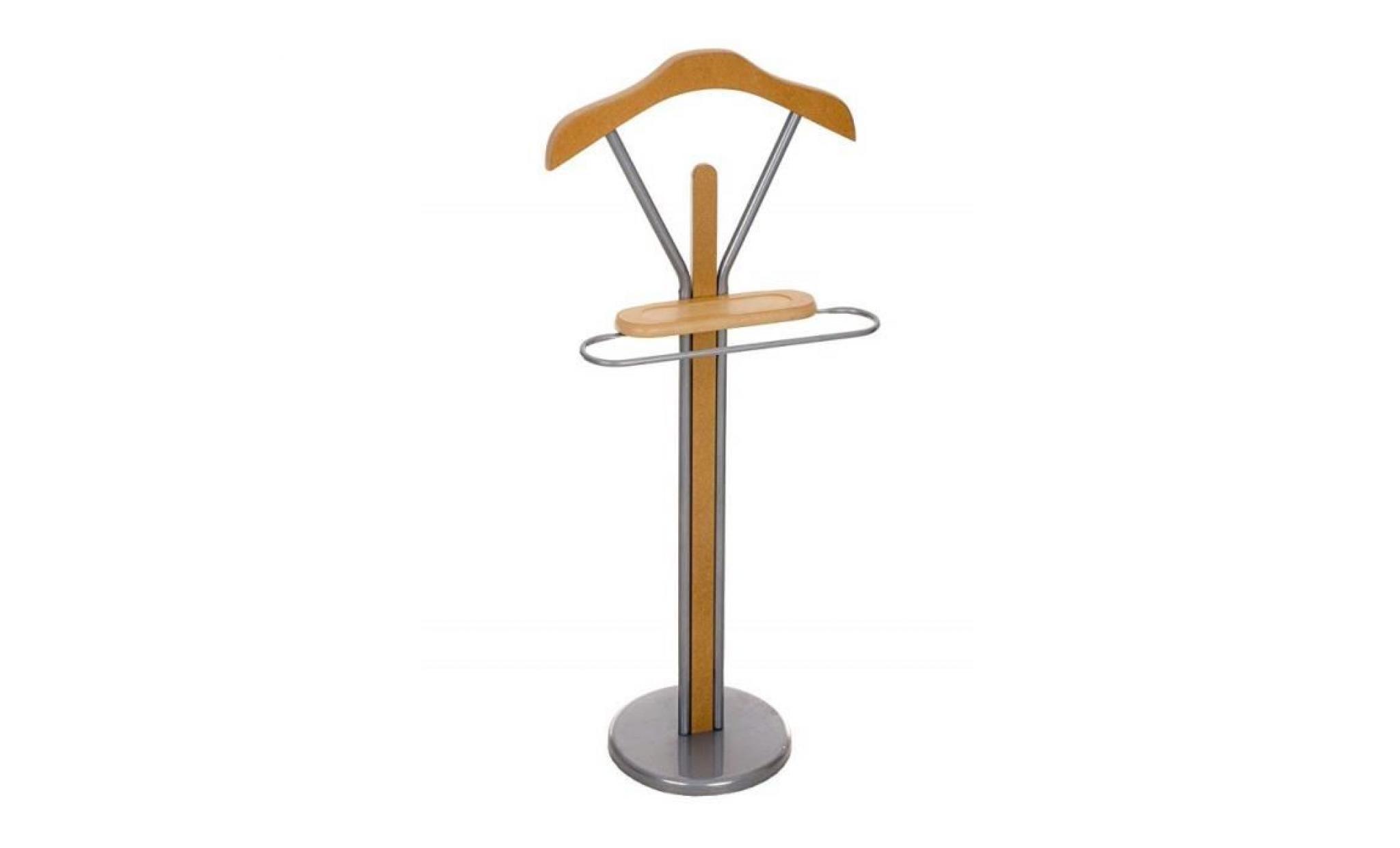 valet de chambre moderne ronald en métal chromé pratique pour un usage  quotidien valet de nuit avec cintre inclus, 5 couleurs au