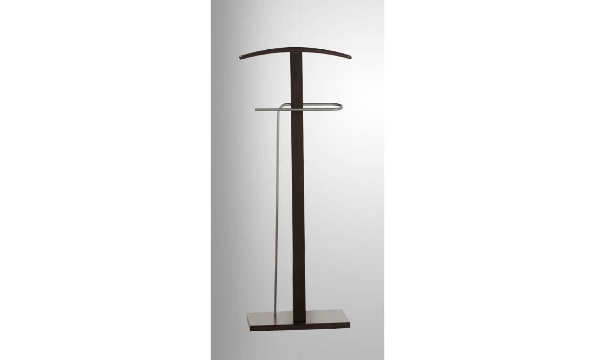 Valet nuit en bois marron fonc dim 48 x 28 x achat - Table de nuit bois fonce ...