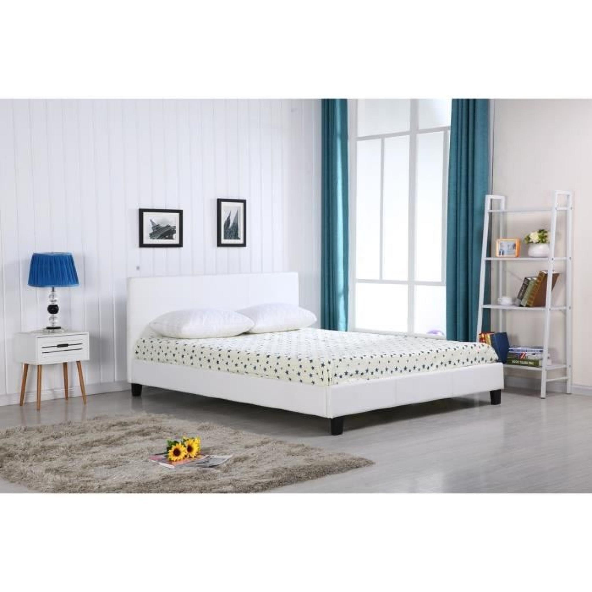lit a led pas cher lit zalaris xcm simili argent avec leds lit vente unique with lit a led pas. Black Bedroom Furniture Sets. Home Design Ideas
