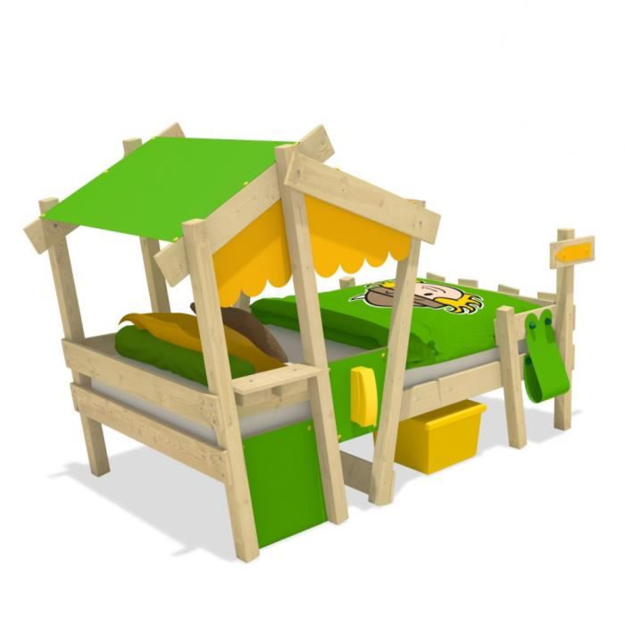 lit enfant bois ludique crazy candy achat vente lit pas cher couleur et. Black Bedroom Furniture Sets. Home Design Ideas