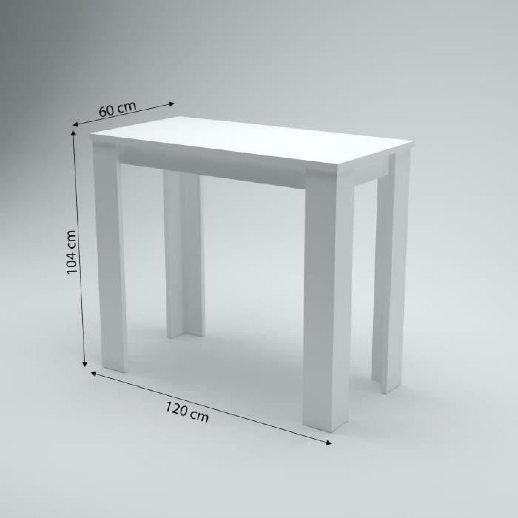 william table bar blanc achat vente table salle a manger pas cher couleur et. Black Bedroom Furniture Sets. Home Design Ideas