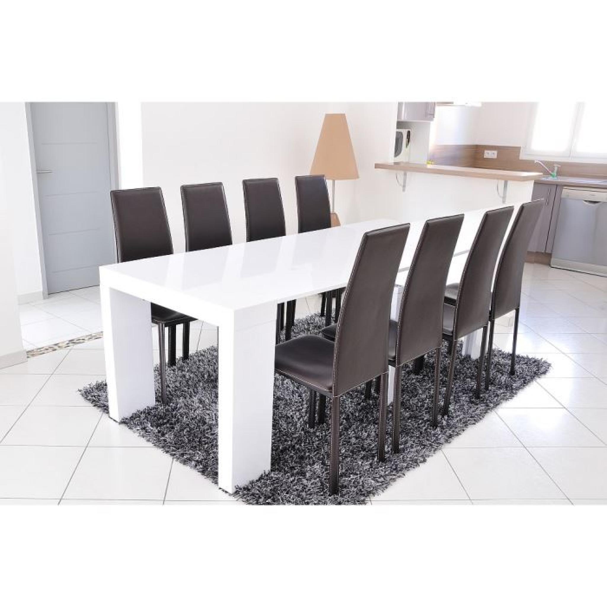 zack console extensible 250cm laqu blanc achat vente. Black Bedroom Furniture Sets. Home Design Ideas