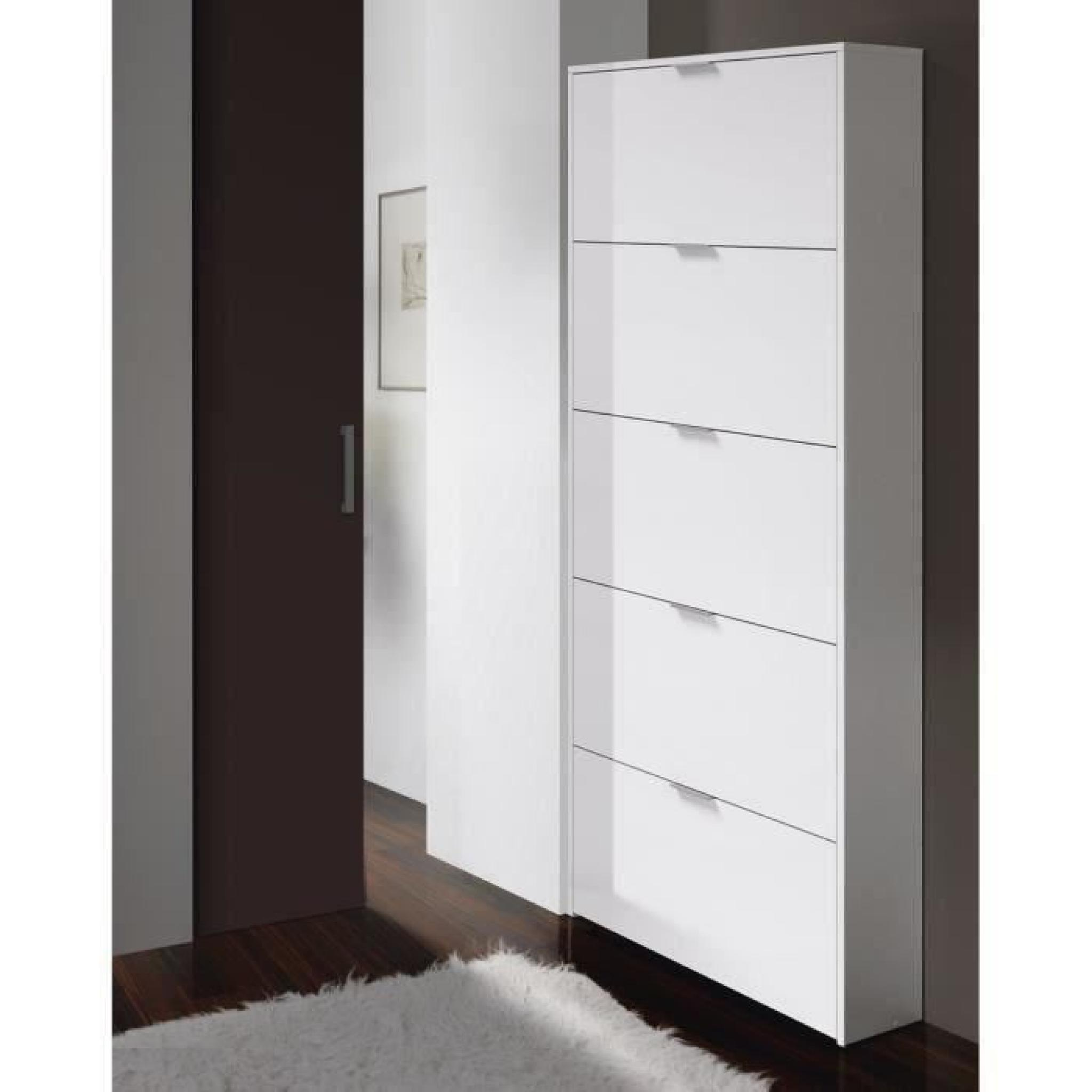 zapa meuble chaussures 180cm blanc brillant achat. Black Bedroom Furniture Sets. Home Design Ideas