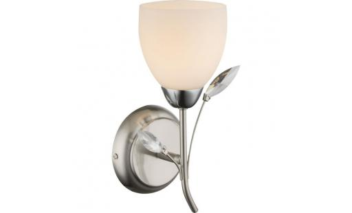 Applique murale Globo lighting  electrique - applique en nickel mat 27x11x13cm pas cher