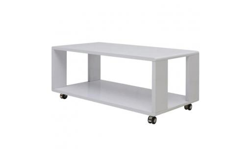 Table basse Ovonni  - brillante blanc table basse pas cher