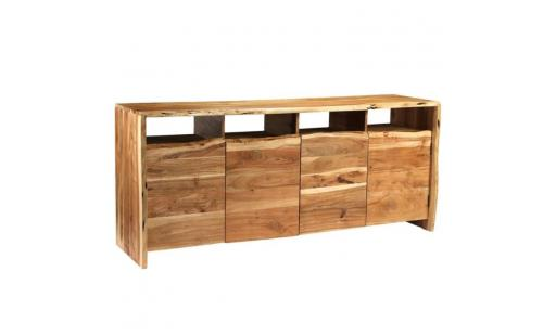 Buffet Ovonni  - buffet bois d'acacia solide bords assortis 180 x 43 x 77 cm pas cher