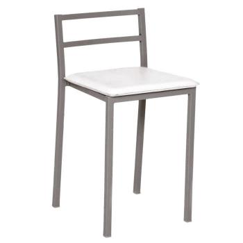 Chaise salle a manger  - Chaise blanche metalique, 420 x 475 x 810 mm pas cher