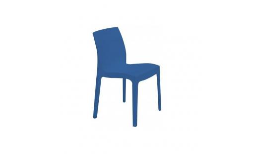 Chaise salle a manger  - Chaise design bleue Istanbul pas cher