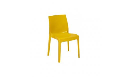 Chaise salle a manger  - Chaise Empilable Jaune Brillant Milady pas cher