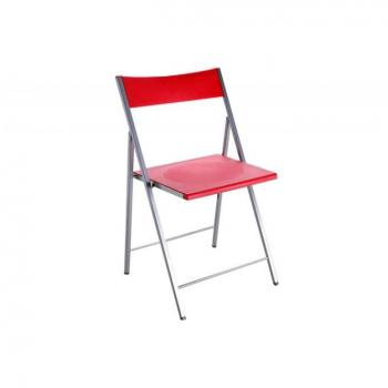 Chaise salle a manger  - Chaise pliante rouge Bilbao pas cher