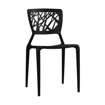 Chaise salle a manger  - Chaise Tree Noire pas cher