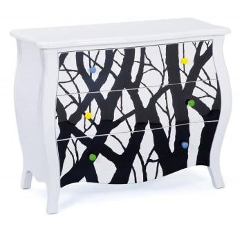 Commode  - Commode ALISHA blanche 3 tiroirs pas cher