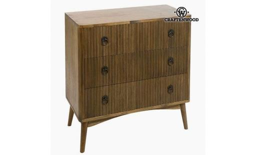 Commode Aucune  aucune - commode teck mdf marron (82 x 40 x 81,50 cm)   collection be yourself by craftenwood pas cher