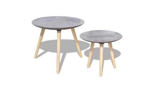 Table basse Ovonni  - ensemble de tables de salon table basse 2 pcs 55 cm et 44 cm style contemporain pas cher