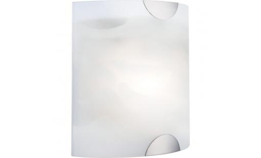 Applique murale Globo lighting  electrique - globo applique nickel l7,5 x l20 x h20 cm   blanc pas cher