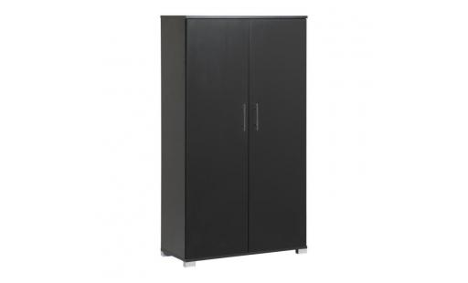 Amoire de bureau Mmt  mmt - mmt black office 2 door bookcase storage filing cabinet cupboard with 3 internal shelves, easy to assemble pas cher