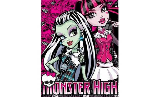 Plaid  - Plaid polaire Monster High - 120X150 cm, 100% p… pas cher