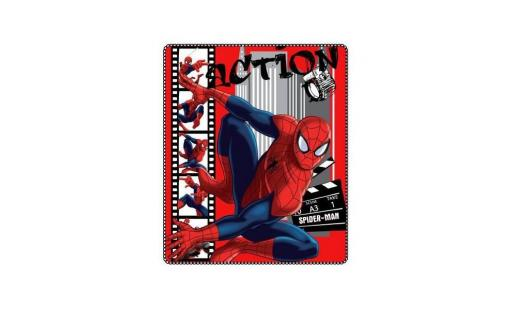 Plaid Marvel  - plaid polaire spiderman action pas cher