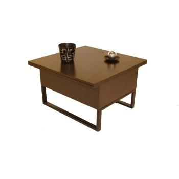 Table salle a manger   75 cm - Table basse relevable à allonges New Viper Wengé pas cher