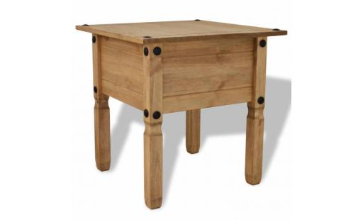 Table basse Ovonni  - table d'appoint pin mexicain gamme corona 53,5 x 53,5 x 55 cm pas cher