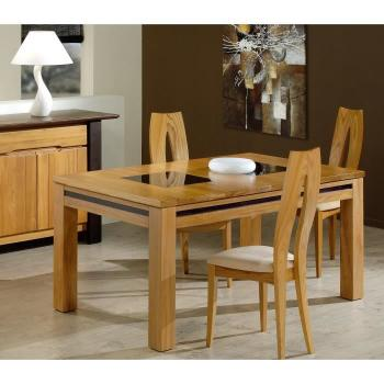 Table salle a manger  - Table GALAXY W/O 160/95 (Orme - Orme - Satiné) pas cher