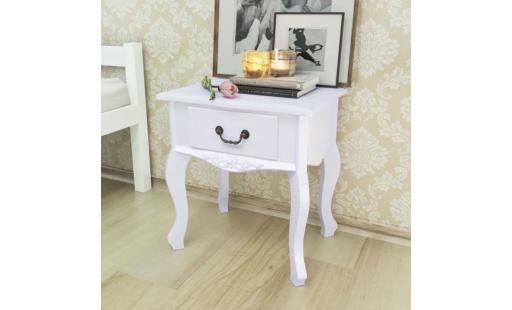 Table basse Ovonni  - tables de chevet  43 x 33 x 45,5 cmtable de nuit scandinave contemporain moderne mdf blanc pas cher