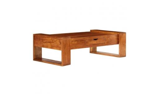 Table basse Vidaxl  - vidaxl table basse bois d'acacia solide 100 x 50 x 30 cm marron pas cher